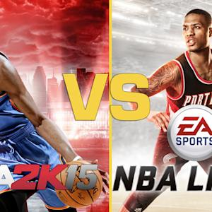 NBA Live Vs. NBA 2K15 Graphics Comparison (Xbox One)
