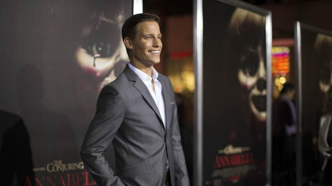 "Cast member Horton poses at the premiere of ""Annabelle"" at the TCL Chinese theatre in Hollywood"