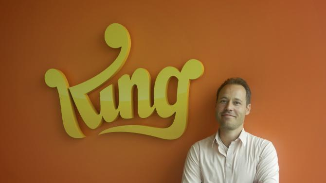 Co-founder and Chief Creative Officer of King.com Sebastian Knutsson pose for media in this undated handout photograph taken and released by King.com in Stockholm