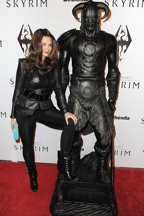 Lynda Carter Elder ScrollsV Skyrim Launch Party