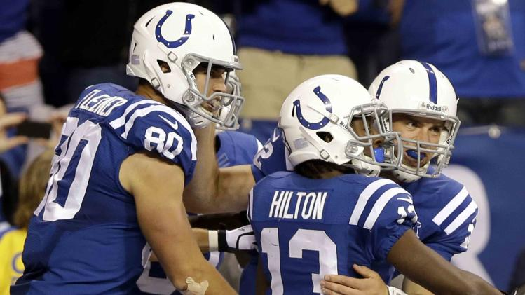 Colts' passing game scuffles a bit without Wayne