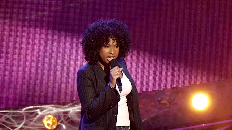 "Jennifer Hudson performs on season 3 of ""American Idol."""