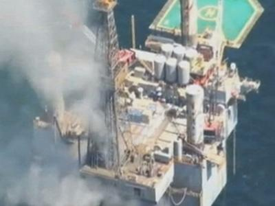 Raw: Gulf of Mexico Gas Well Blowout