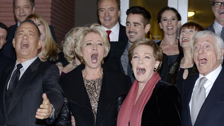 "Actors attend the film premiere of ""Saving Mr. Banks,"" at the Walt Disney Studios in Burbank"