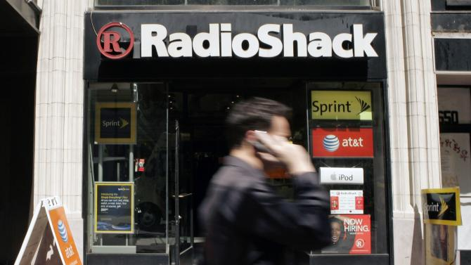 A man walks past a RadioShack retail store on Market Street in San Francisco