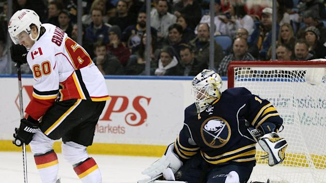 Moulson, Enroth lead Sabres past Flames, 4-3