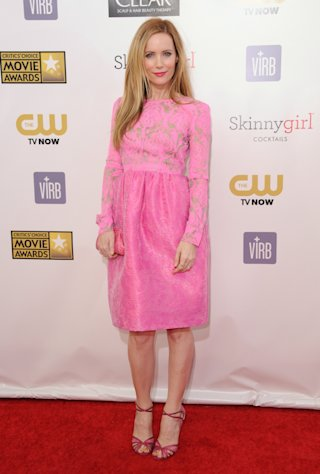 Leslie Mann arrives at the 18th Annual Critics&#39; Choice Movie Awards at the Barker Hangar on Thursday, Jan. 10, 2013, in Santa Monica, Calif. (Photo by Jordan Strauss/Invision/AP)