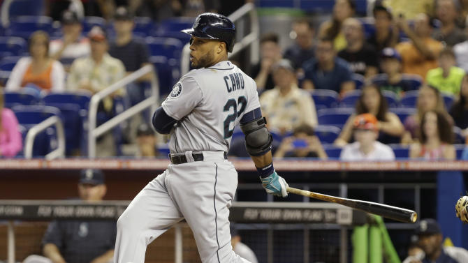 Stanton's slam sends Marlins past Mariners 8-4