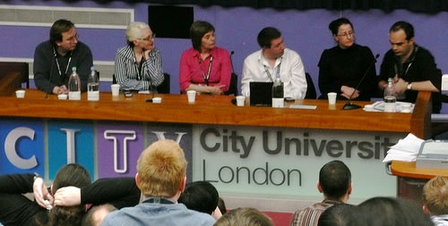 The panel at the end of the conference.