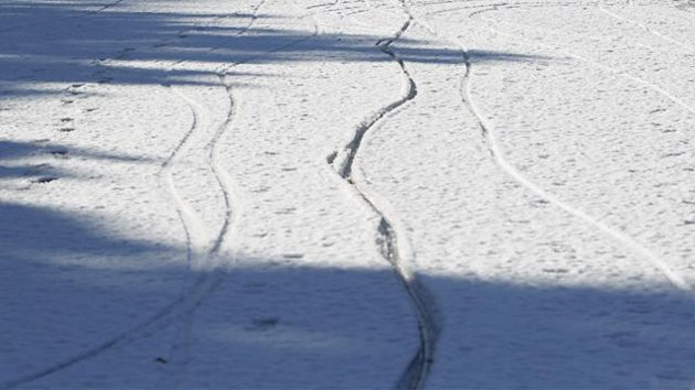 Tyre tracks in snow (Reuters)