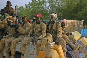 South Sudan government soldiers are pictured in Bor, …