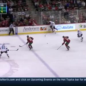 Tommy Wingels Hit on Charlie Coyle (04:06/1st)