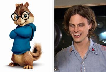 Simon (voiced by Matthew Gray Gubler ) in 20th Century Fox's Alvin and the Chipmunks