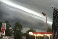 An ominous line of clouds portends the approaching derecho in La Porte, Ind., on the afternoon of June 29.