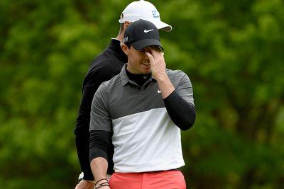'Angry' Rory McIlroy chucking clubs again during marathon golf run