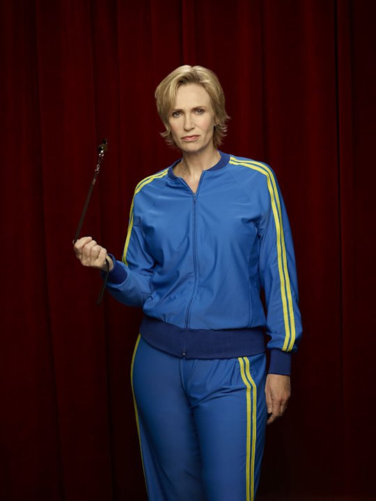 "Jane Lynch returns as Sue Sylvester in ""Glee."""