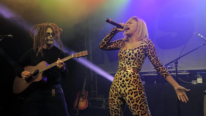 IMAGE DISTRIBUTED FOR THE HOUSE OF ROCK -  Kat DeLuna performs at the KIIS FM Halloween Party at the House of Rock benefitting The Painted Turtle on Tuesday, Oct. 30, 2012, in Santa Monica, Calif. (Photo by Chris Pizzello/Invision for The House of Rock/AP Images)