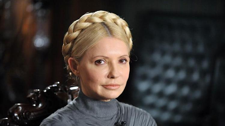 File photo taken on February 2, 2011 shows Ukraine's former Prime Minister and leader of the opposition Yulia Tymoshenko pictured in her residence in Kiev during her interview with AFP