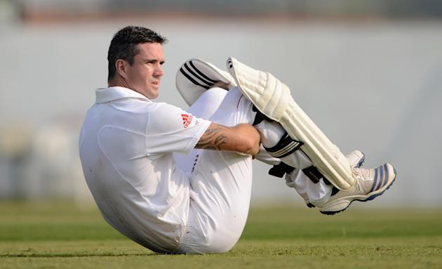 Kevin Pietersen of England during the tour match between England and Haryana at Sardar Patel Stadium ground B on November 8, 2012 in Ahmedabad, India. (Photo by Gareth Copley/Getty Images)