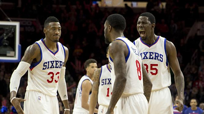 76ers end 14-game home skid with 95-92 win over Cavaliers