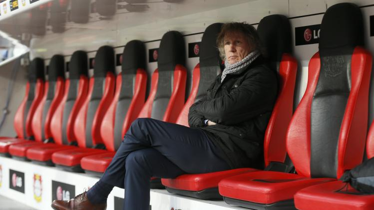 File photo of FC Nuremberg coach Verbeek before German first division Bundesliga soccer match against Bayer 04 Leverkusen