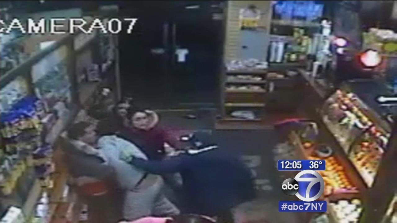 NYPD searching for seven in vicious Bronx deli assault