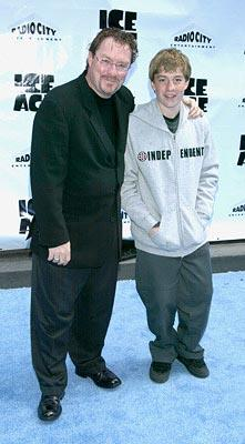 Premiere: Stephen Root and son at the Radio City Music Hall premiere of Ice Age - 3/10/2002