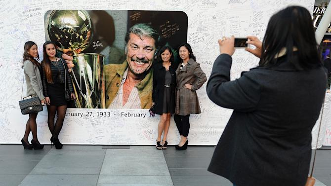 Memorial Service For Los Angeles Lakers Owner Dr. Jerry Buss
