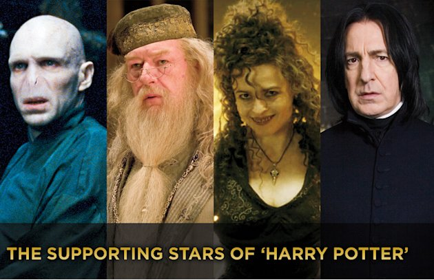 The Supporting stars of Harry Potter Title Card