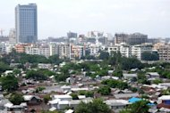 This file photo shows a general view of a residential area in Dhaka, pictured in August. The World Bank said on Thursday that it could reconsider its decision to cancel a $1.2 billion loan to Bangladesh for a major road and rail bridge, but only if authorities keep pledges to fight corruption