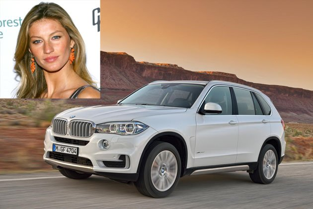 photo of Gisele Bündchen BMWX5 - car