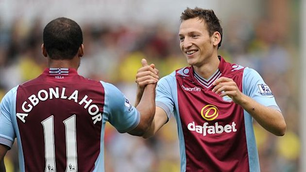 Aston Villa's Libor Kozak (right) will not feature again this season after breaking his leg in training (PA Sport)