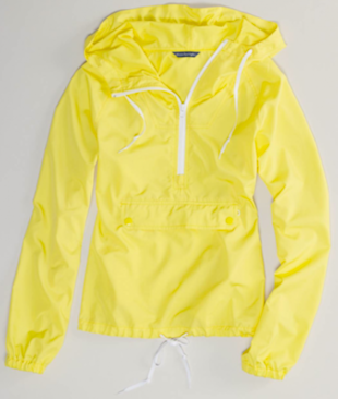 AE Lightweight Hooded Anorak, $34.99