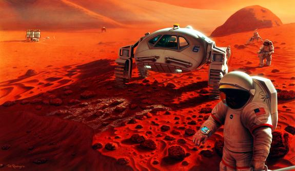 US Needs a Mars Colony, Buzz Aldrin Tells Senators