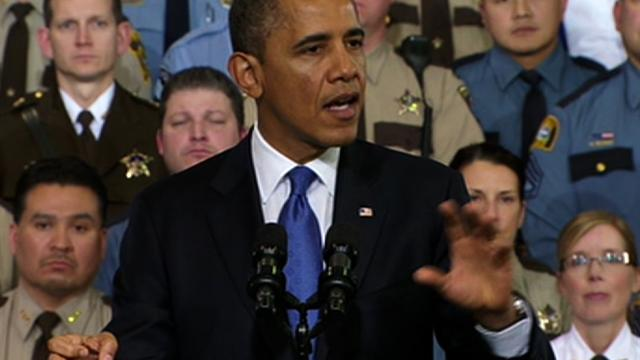 "Assault weapons ban ""deserves a vote in Congress,"" Obama says"