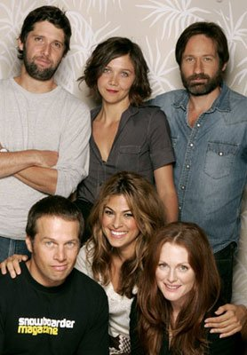 Director Bart Freundlich, Maggie Gyllenhaal, David Duchovny, James LeGros, Julianne Moore and Eva Mendes