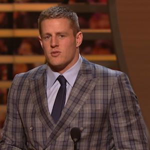 'NFL Honors': Houston Texans defensive end J.J. Watt wins Defensive Player of the Year award