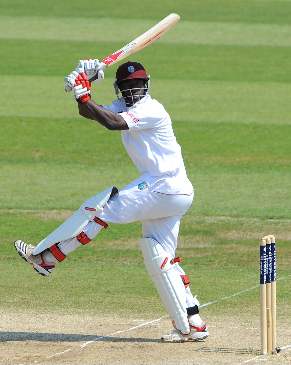 West Indies Kemar Roach bats during the