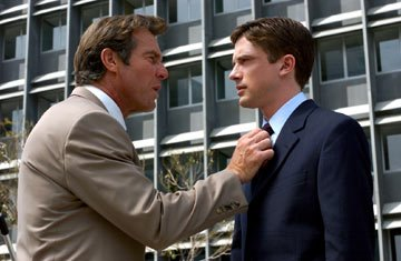 Dennis Quaid and Topher Grace in Universal Pictures' In Good Company