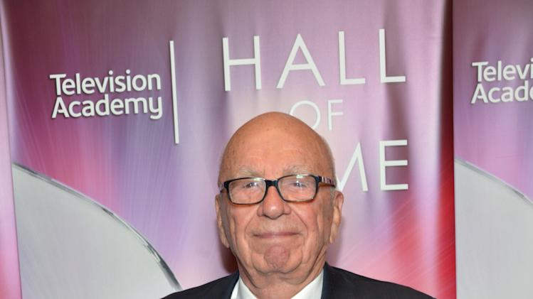 EXCLUSIVE - Hall of Fame inductee Rupert Murdoch poses backstage at the 2014 Television Academy Hall of Fame on Tuesday, March 11, 2014, at the Beverly Wilshire in Beverly Hills, Calif. (Photo by John Shearer/Invision for the Television Academy/AP Images)