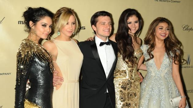 Vanessa Hudgens, Ashley Tisdale, Josh Hutcherson, Selena Gomez and Sarah Hyland attend The Weinstein Company's 2013 Golden Globes After Party held at The Old Trader Vic's in The Beverly Hilton Hotel on January 13, 2013 in Beverly Hills -- Getty Premium