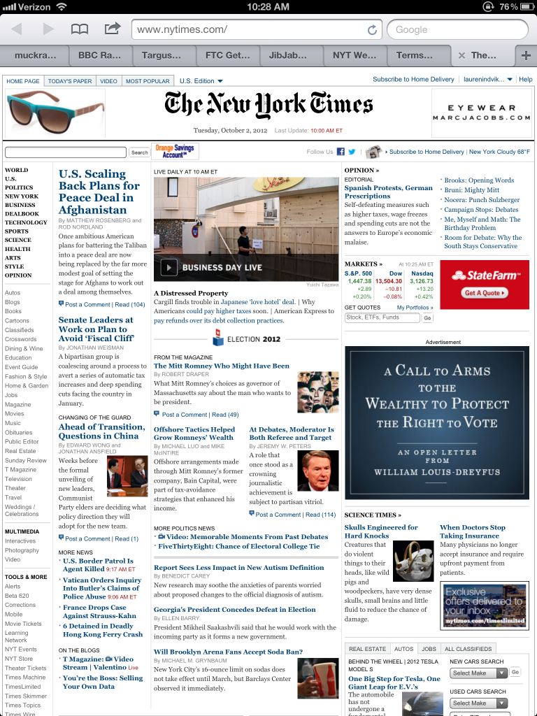 New York Times' HTML5 App for iPad Is No Substitute for Native