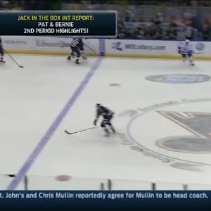 David Backes Hit on Luca Sbisa (19:27/2nd)