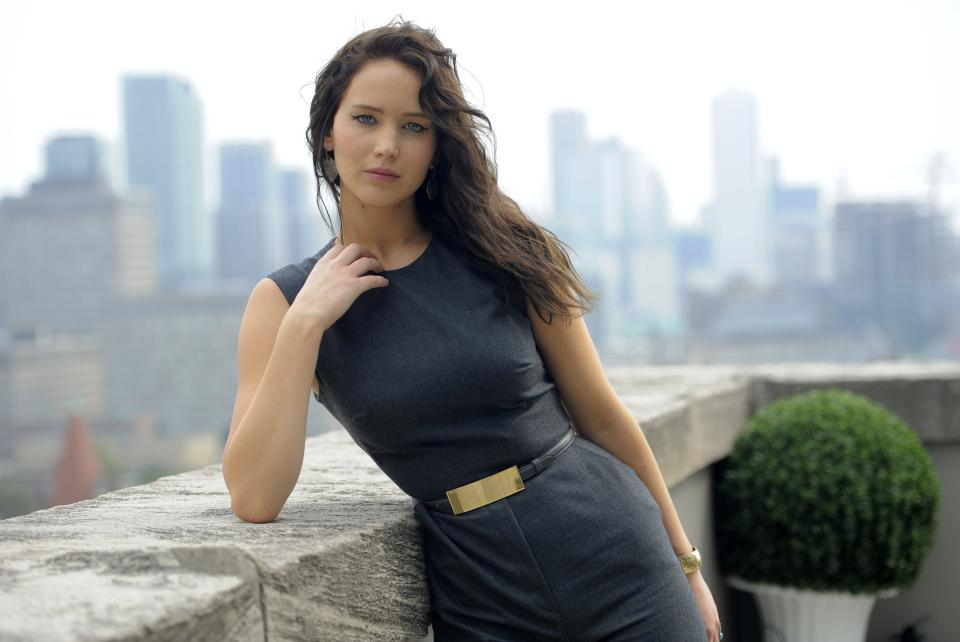"Jennifer Lawrence, a cast member in the film ""Silver Linings Playbook,"" poses for a portrait at the 2012 Toronto Film Festival, Friday, Sept. 7, 2012, in Toronto. (Photo by Chris Pizzello/Invision/AP)"