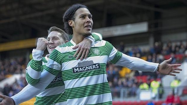 Virgil Van Dijk netted the winner for Celtic