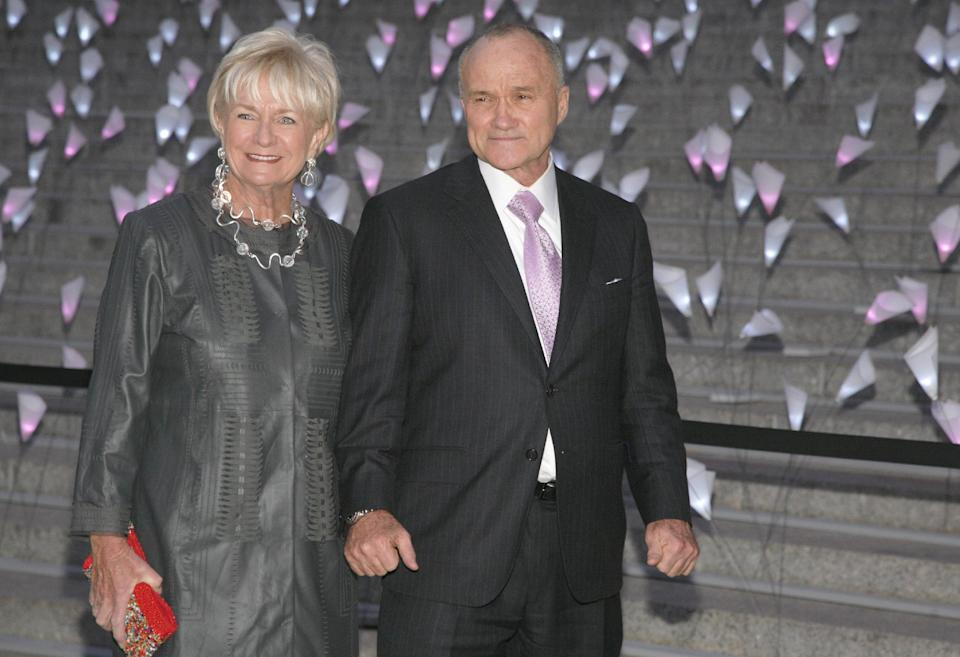 New York Police Commissioner Ray Kelly, right, with his wife Veronica Kelly, left, attends the Vanity Fair Tribeca Film Festival Party, on Tuesday, April 16, 2013, in New York. (Photo by Andy Kropa/Invision/AP)