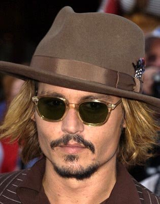 Johnny Depp at the LA premiere of Walt Disney's Pirates Of The Caribbean: The Curse of the Black Pearl