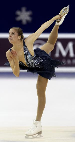 Carolina Kostner of Italy performs during women' short program at the ISU Grand Prix of Figure Skating in Shanghai, China, Saturday, Nov. 5, 2011. (AP Photo) CHINA OUT