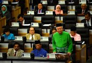 Malaysia Prime Minister Najib Razak is shown in Parliament in Kuala Lumpur, on September 28, 2012. Najib has dissolved parliament in preparation for a general election seen as the toughest challenge yet for the ruling coalition after 56 years in power