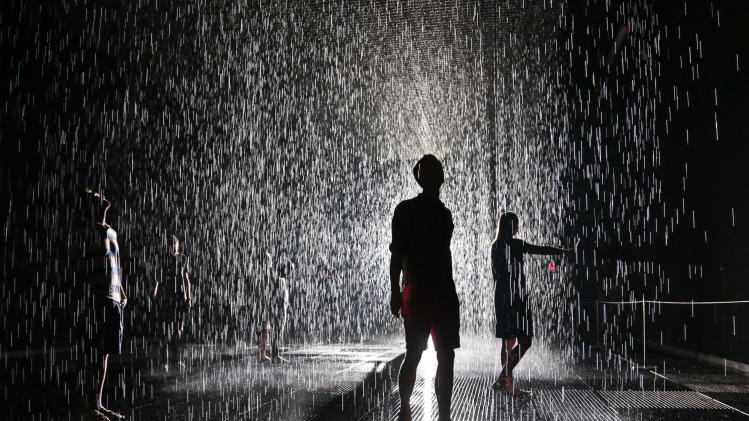 Rain room at the museum of modern art moma in new york in new york